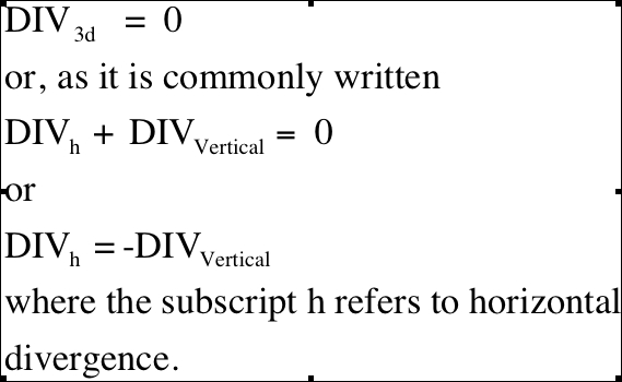 The Continuity Equation and Divergence
