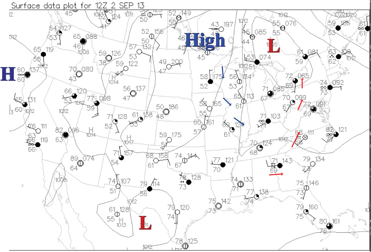 Past Links For Metr  Fall - Us weather patterns map