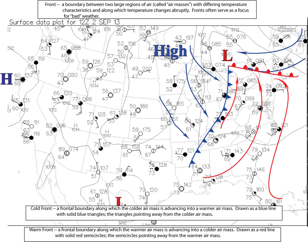 Past Links For Metr Fall - Us weather map fronts