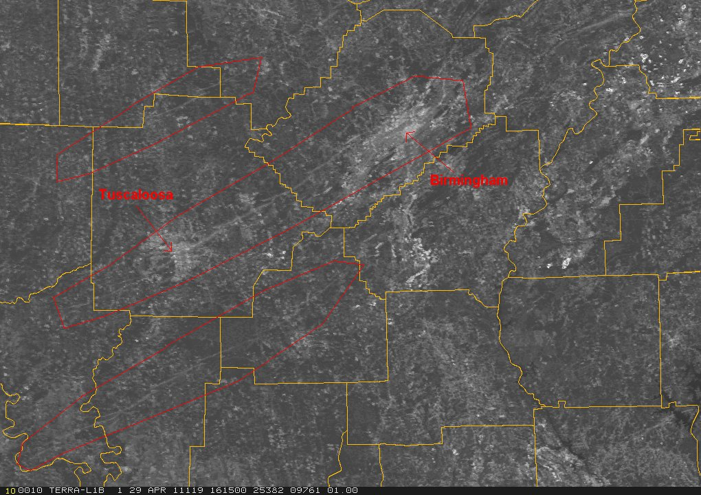 Uncorrected and Corrected Weather Radar Assignments
